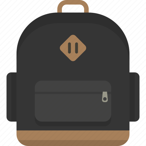 backpack, bag, bookbag, knapsack, rucksack, school icon