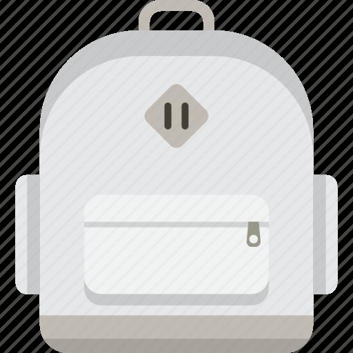 backpack, bag, bookbag, knapsack, rucksack, school icon