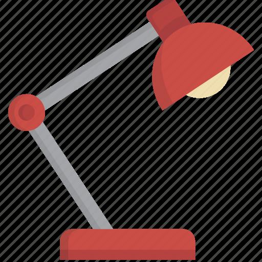 desk, desk lamp, desklamp, lamp, light icon