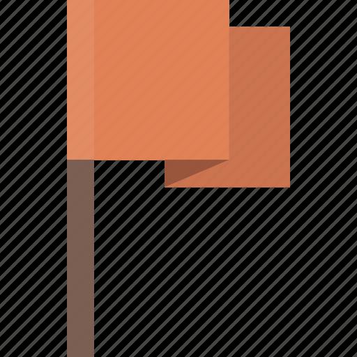 alert, flag, location, orange, warning icon