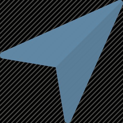 arrow, gps, location icon