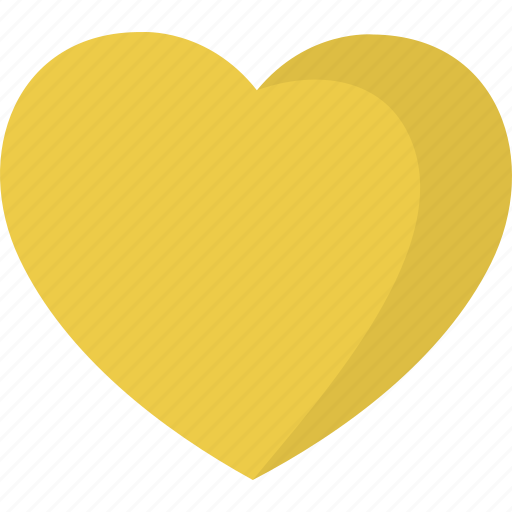 favorite, gold, heart, like icon