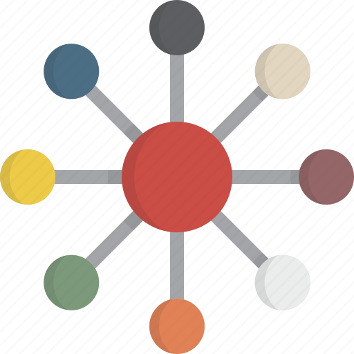 communications, connection, hub, network, web icon