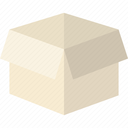 box, delivery, dropbox, empty, moving, open, shipping icon