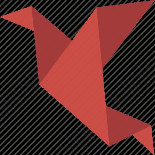 bird, origami icon
