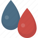 blue, color, drops, paint, red icon
