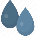 blue, color, drops, paint, water icon