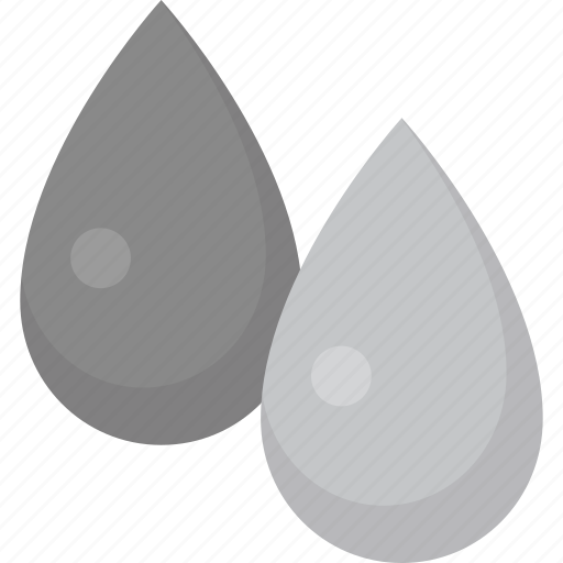 color, drops, grayscale, greyscale, paint icon