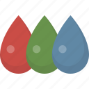 color, colors, drops, paint, red blue green, rgb icon