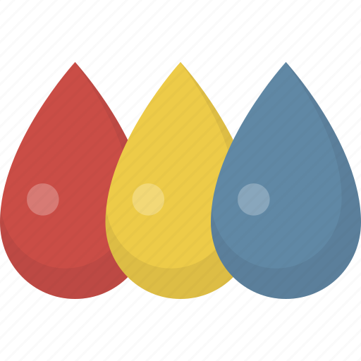 color, colors, drops, paint, primary, red yellow blue icon