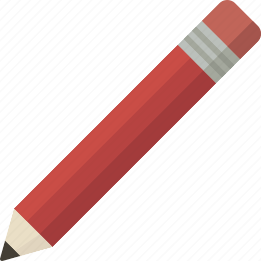 draw, edit, pencil, red, tool icon