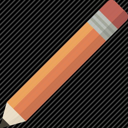 draw, edit, orange, pencil, tool icon