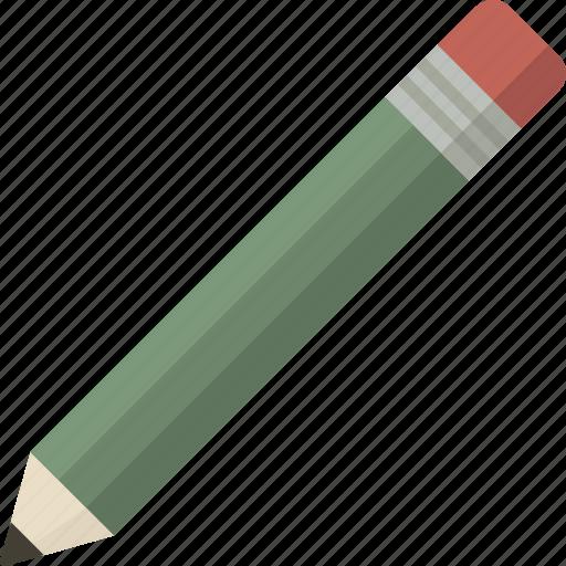 draw, edit, green, pencil, tool icon