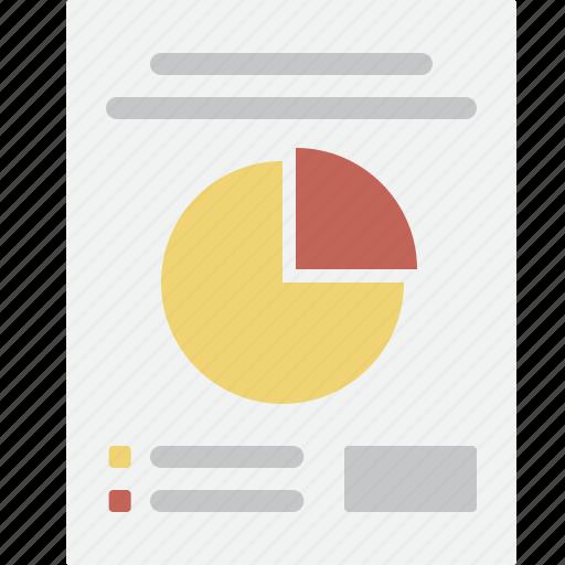 business, chart, document, memo, pie, report, seo icon