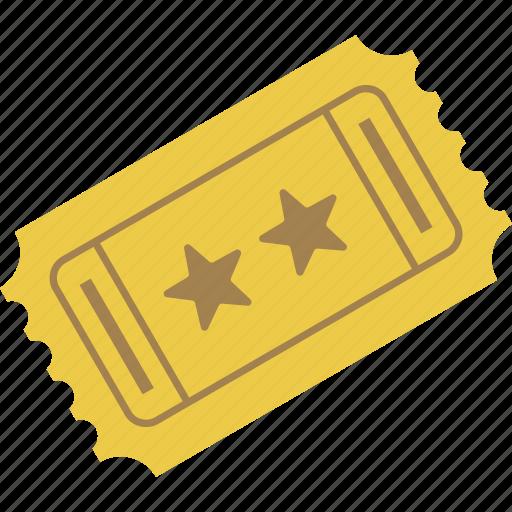 admission, movie, movie ticket, stub, ticket, ticket stub icon