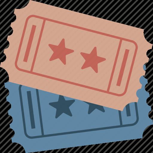 admission, movie, stubs, ticket, ticket stubs, tickets icon