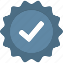 badge, blue, check, verified icon