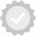 badge, check, silver, verified icon