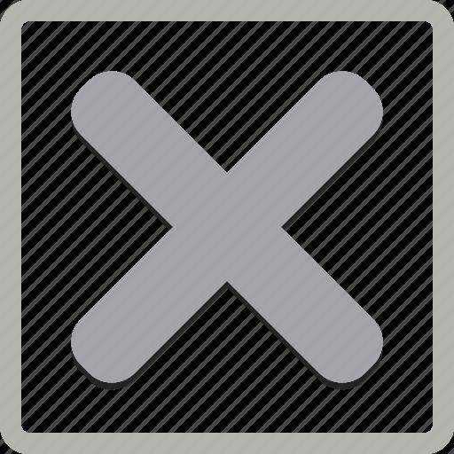 box, check, checkbox, no, select icon