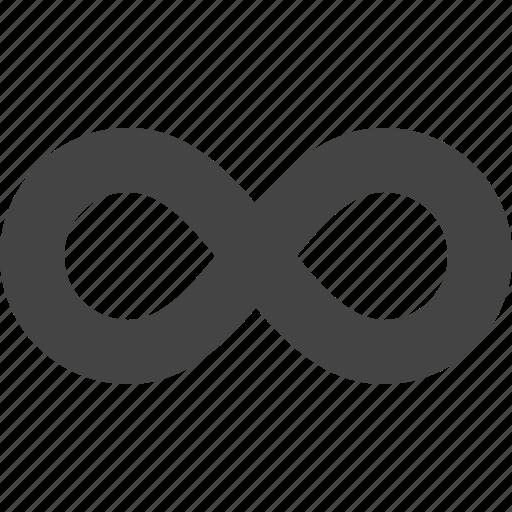 infinite, infinity, loop, quantity icon