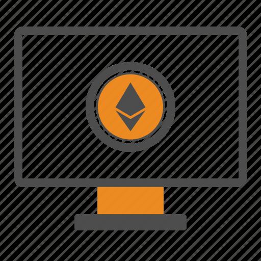 app, blockchain, computer, ethereum, soft icon