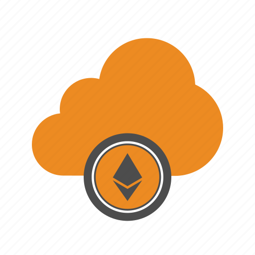 Web, ethereum, blockchain, cloud icon