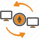 assignment, blockchain, ethereum, money, transfer icon