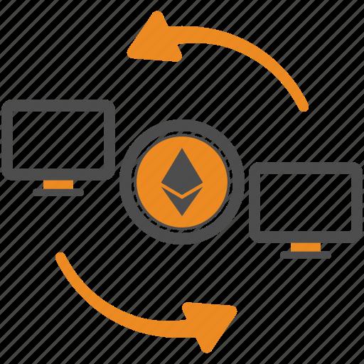 Money, assignment, ethereum, blockchain, transfer icon - Download