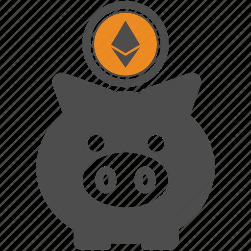 backup, blockchain, ethereum, save icon