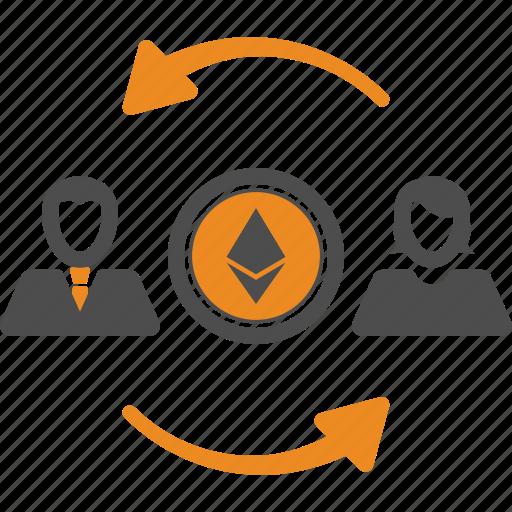 assignment, blockchain, ethereum, transfer icon