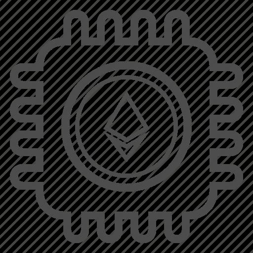 blockchain, cryptocurrency, ethereum, mining icon