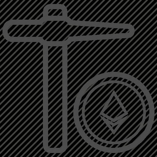 Blockchain, ethereum, mining icon - Download on Iconfinder