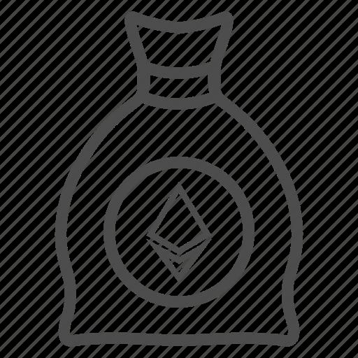 ethereum, save, savings icon
