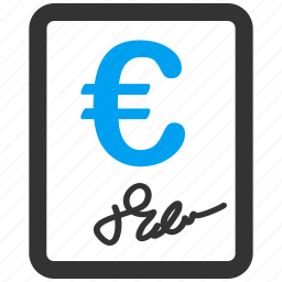 agreement, application, certificate, contract, euro, european, invoice icon