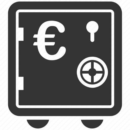 bank, deposit, euro, money, safe, secured, storage icon