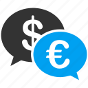 chat, communication, connection, euro, european, message, talk icon