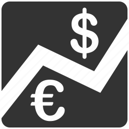 business, chart, dollar, euro, european, graph, money icon