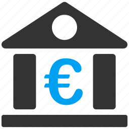 bank office, banking, business, company, euro, european, financial icon