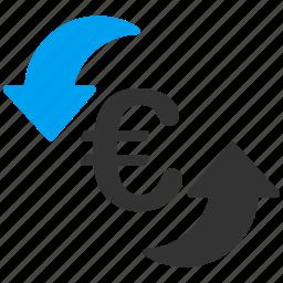 arrows, euro, european, refresh, reload, rotate, sync icon