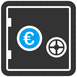 bank, box, deposit, euro, protection, safe, safety icon