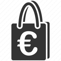 buy, euro, european, package, product, retail, shopping bag icon