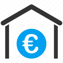 bank, euro, european, garage, storage, store, warehouse icon