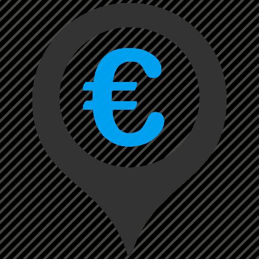 euro, european, geo pointer, globe, gps, marker, pin icon