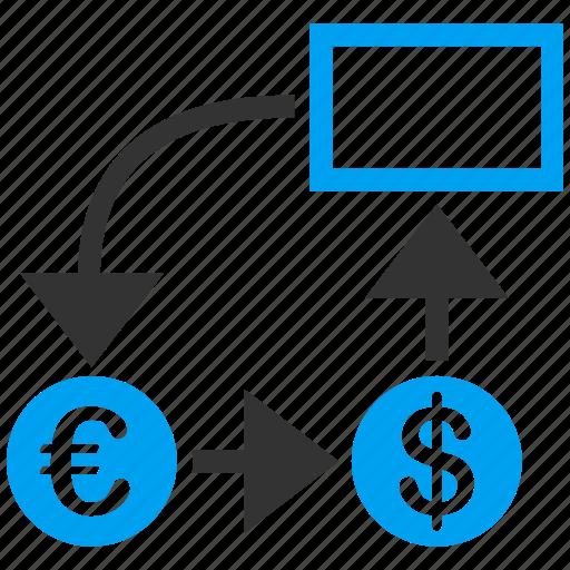 analytics, chart, diagram, euro, european, graph, optimization icon