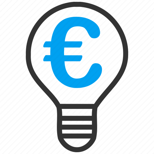 electric, electricity, euro, european, hint, idea, solution icon