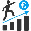 business, euro, european, growth, marketing, planning, success icon