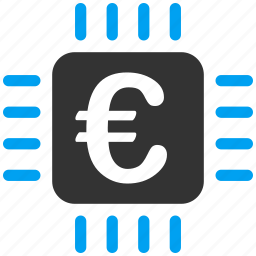 chip, electronic, euro, european, hardware, processor, technology icon
