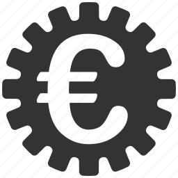 cog, cogwheel, euro, gear, industrial, machinery, wheel icon