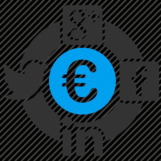 connection, contacts, euro, european, friendship, network, social icon