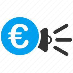 advertisement, advertising, banner, euro, european, marketing, promotion icon